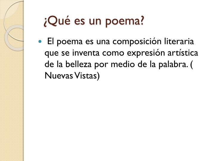 ¿Qué es un poema?