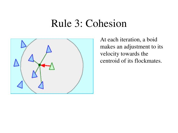 Rule 3: Cohesion