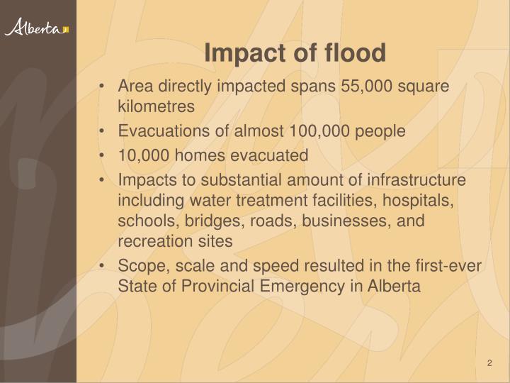 Impact of flood