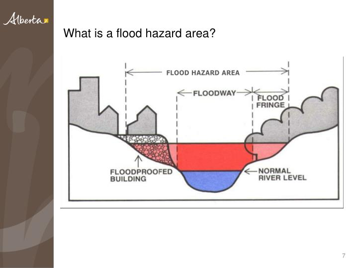 What is a flood hazard area?