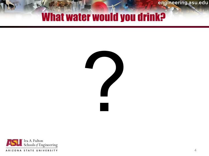 What water would you drink?