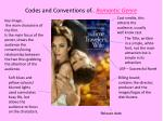codes and conventions of romantic genre