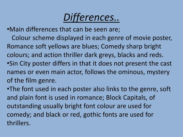 Differences..