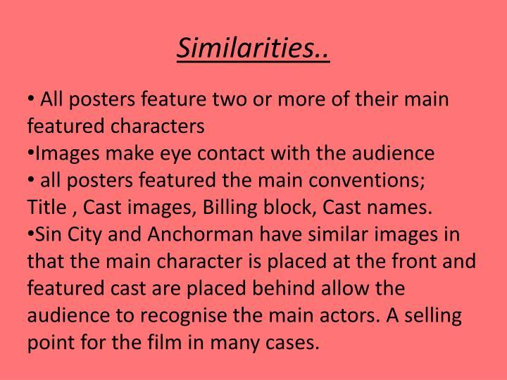 Similarities..