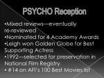 psycho reception2