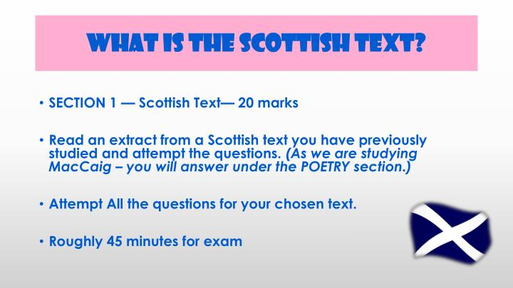 What is the Scottish Text?