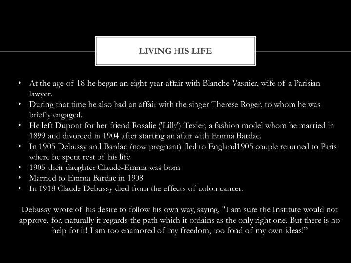 Living his life