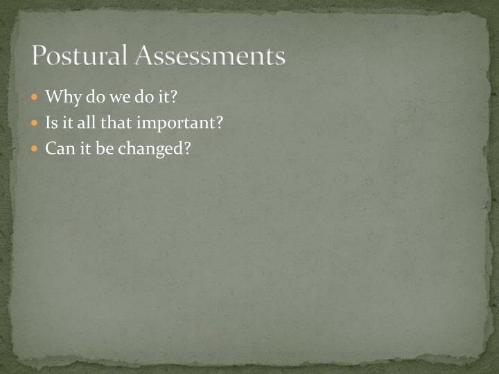 Postural Assessments