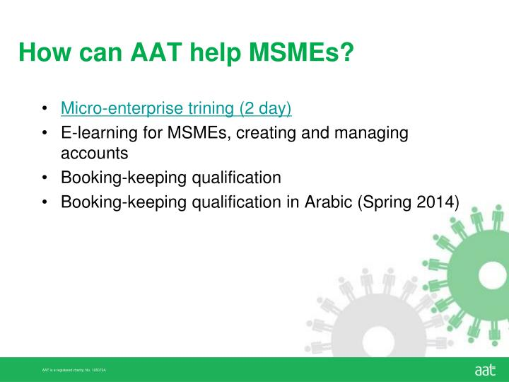 How can AAT help MSMEs?