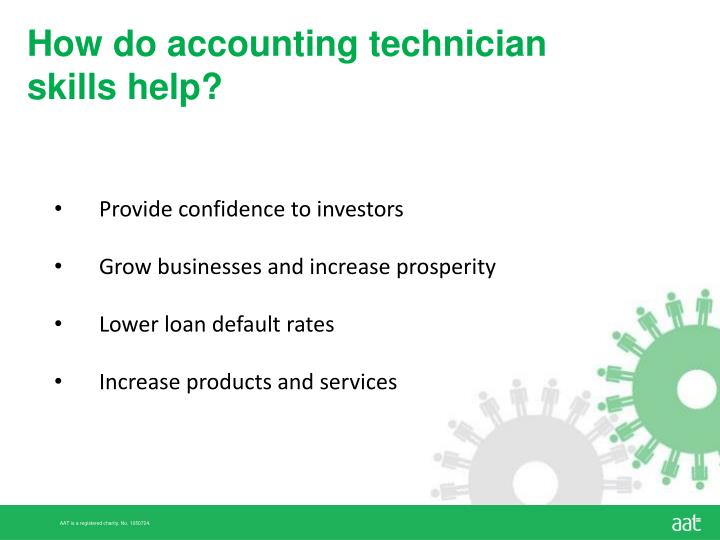 How do accounting technician skills help