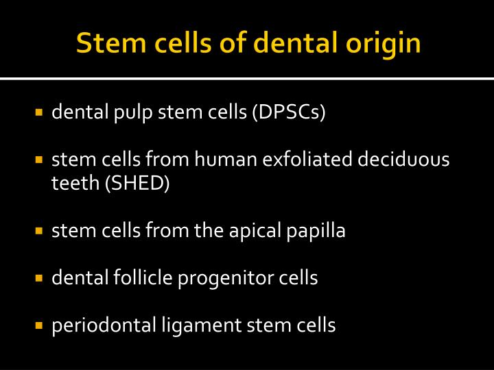 Stem cells of dental origin