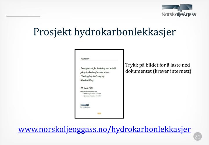 Prosjekt hydrokarbonlekkasjer