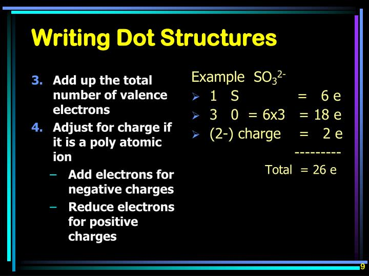 Add up the total number of valence electrons