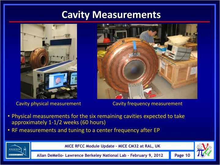 Cavity Measurements