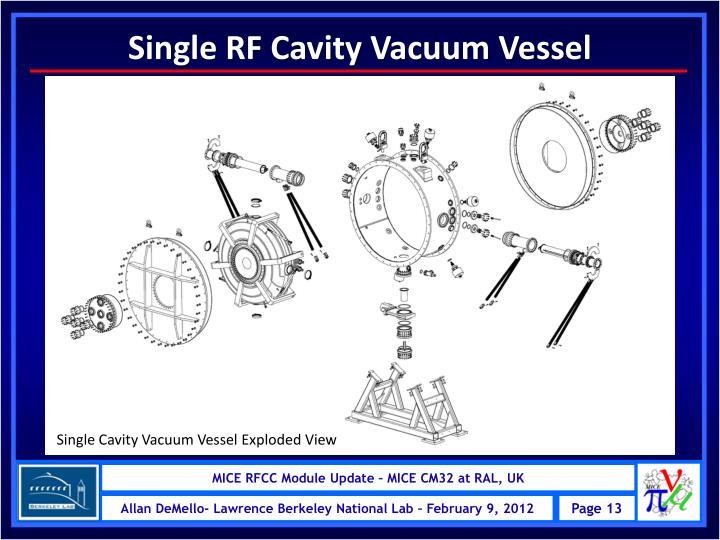 Single RF Cavity Vacuum Vessel