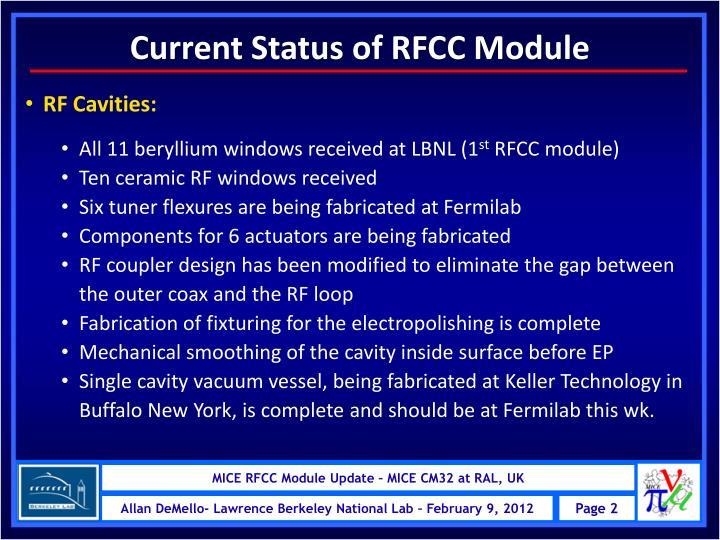 Current Status of RFCC Module