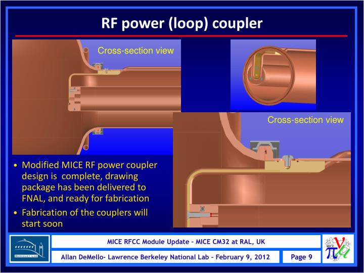 RF power (loop) coupler