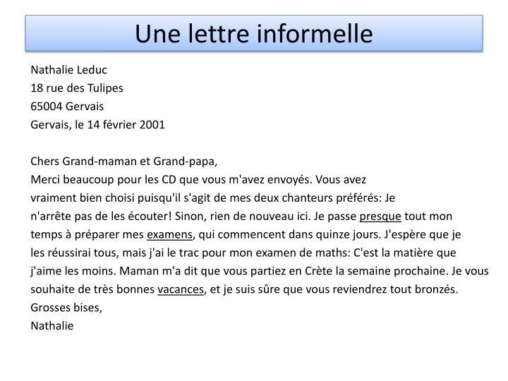 Comment rédiger une lettre informelle   Fiche pratique sur Lavise.fr