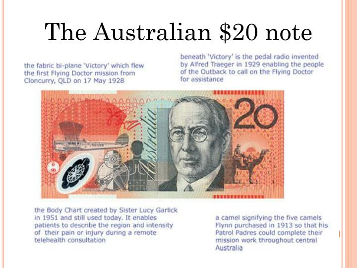 The Australian $20 note
