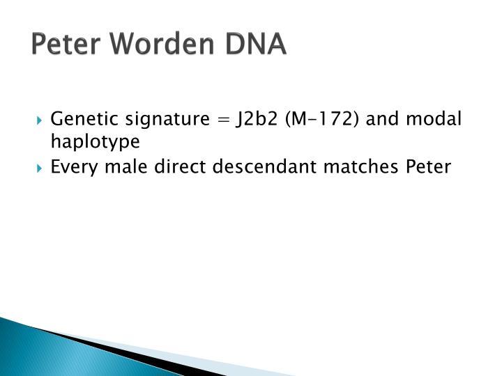 Peter Worden DNA