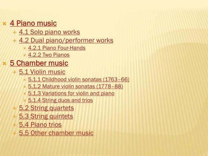 4 Piano music