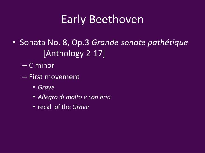 Early Beethoven