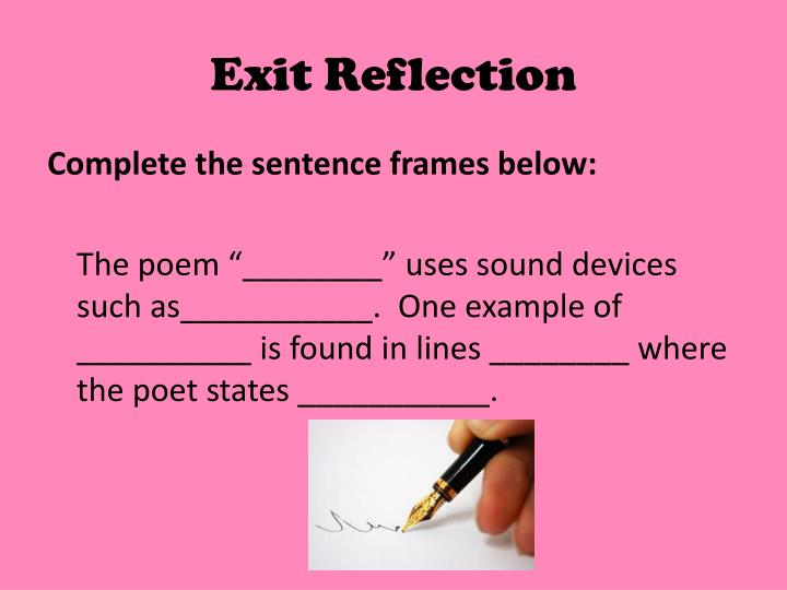 Exit Reflection