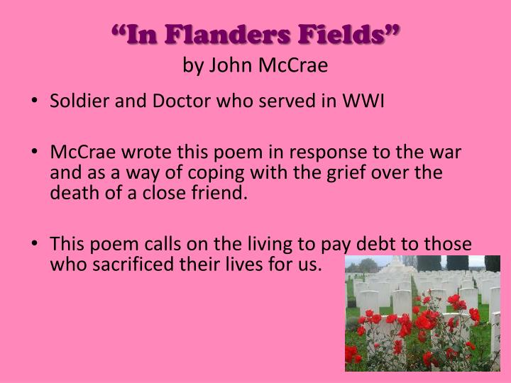 """In Flanders Fields"""