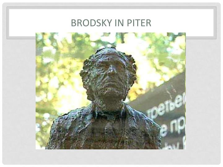 Brodsky in Piter