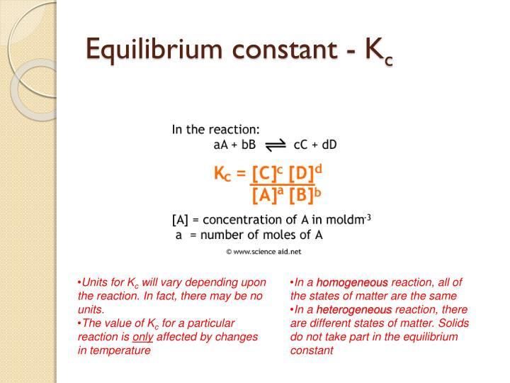 Equilibrium constant -