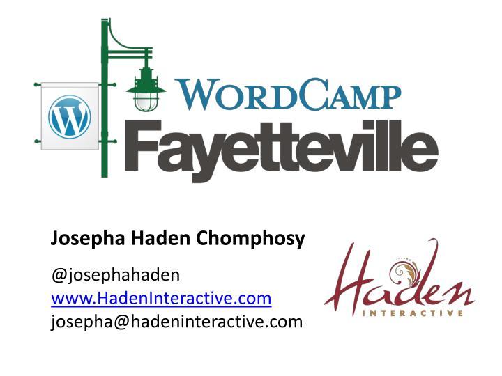 Josepha Haden Chomphosy