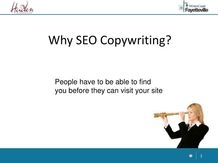Why SEO Copywriting?