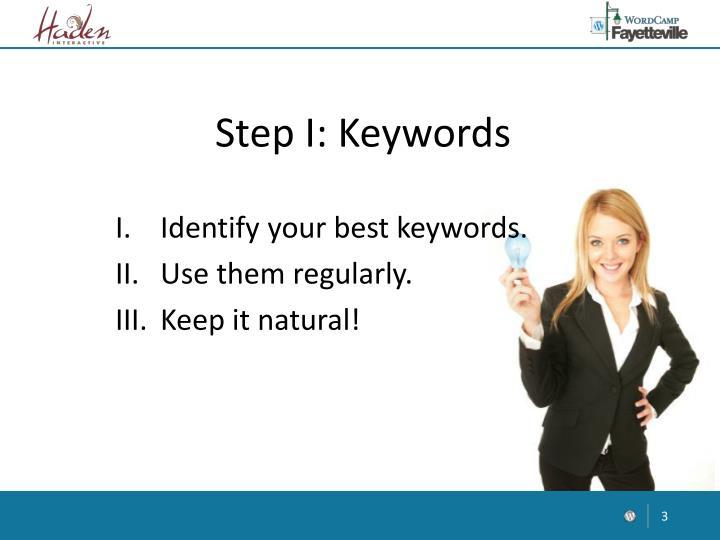 Step I: Keywords