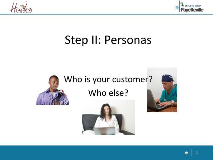 Step II: Personas