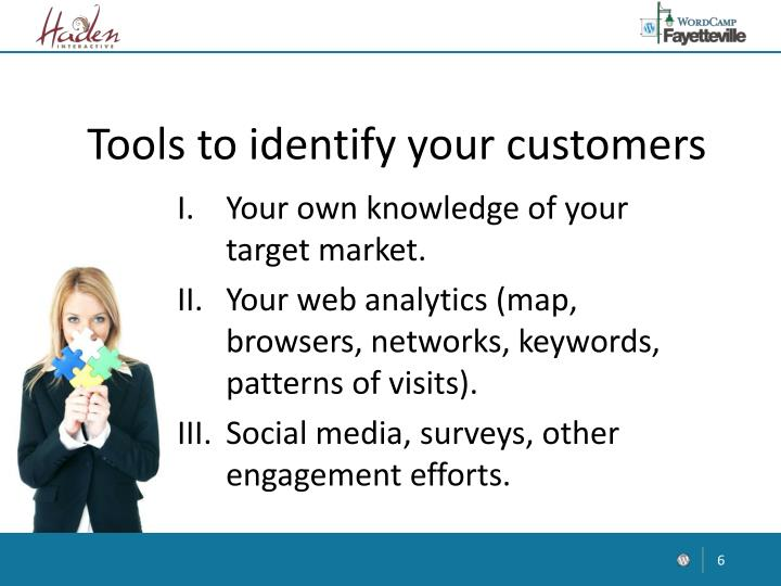 Tools to identify your customers