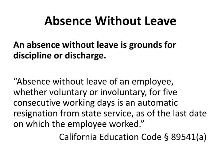 Absence without leave1