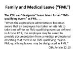 family and medical leave fml1