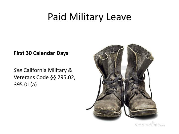 Paid Military Leave
