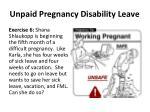unpaid pregnancy disability leave1