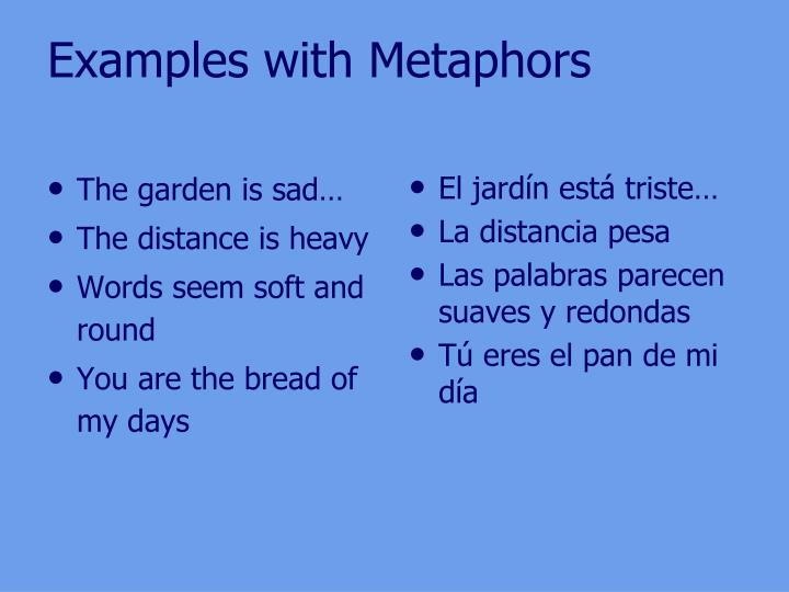 Examples with Metaphors