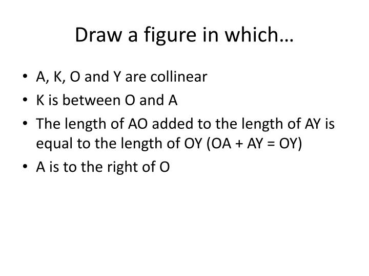 Draw a figure in which…