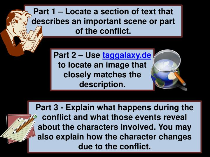 Part 1 – Locate a section of text that describes an