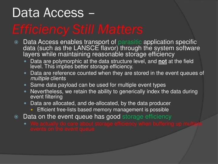 Data Access –