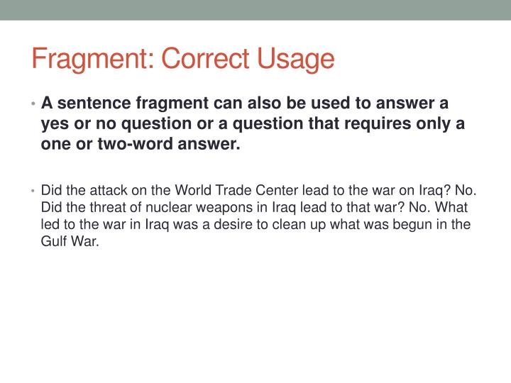 Fragment: Correct Usage