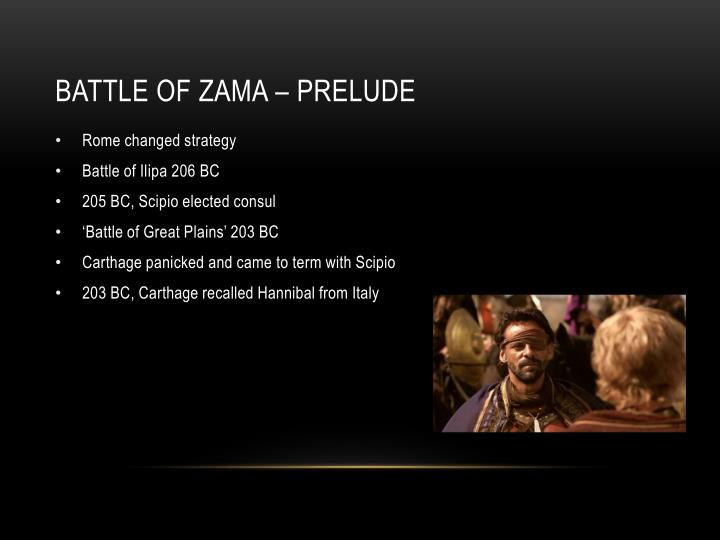 BATTLE OF ZAMA – PRELUDE