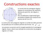 constructions exactes