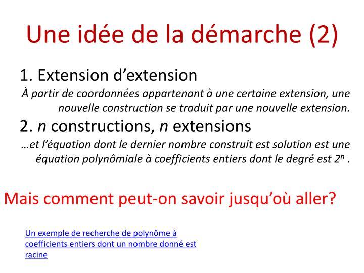 Une idée de la démarche (2)