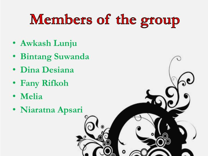 Members of the group
