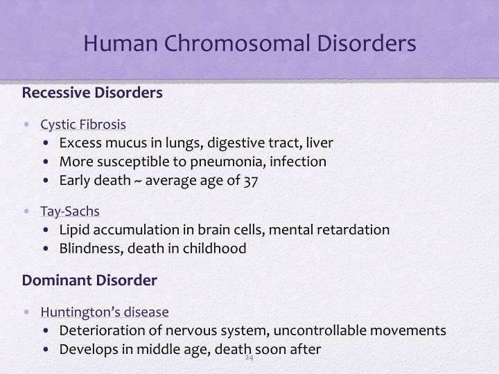 chromosomal disorders in humans pdf