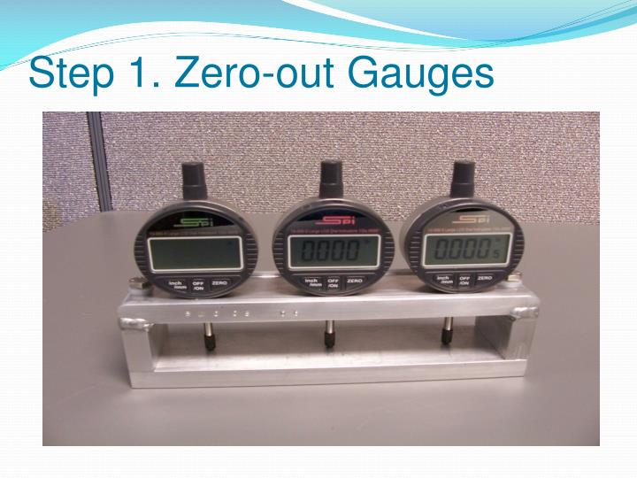 Step 1. Zero-out Gauges